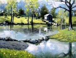 Newton Landscape - Oil on Canvas 16 x 20