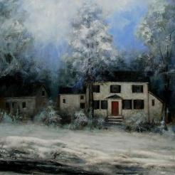 WINTER #3 - Oil on canvas 30 x 30
