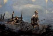 Foggy Bay - Oil on canvas 40 x 60